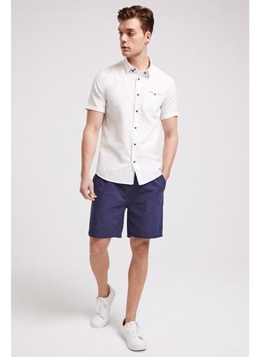 Lee Cooper Erkek İndigo Lordy  Gömlek 202 LCM 241015 Beyaz